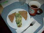 Spinach Omelet breakfast