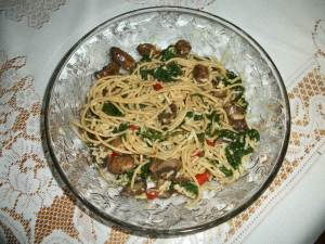 Mushroom Pasta Florentine with Whole Wheat Pasta