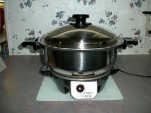The six-quart Gourmet Cooker by Kitchen Craft Cookware