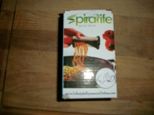 Handheld vegetable spiral slicer by Spiralife