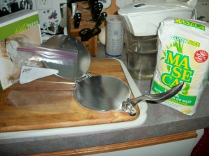 All you need to make corn tortillas? Water, maseca, and cooking spray